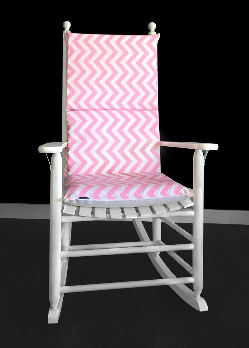 online store 3ae1b f776a Candy Pink Chevron Rocking Chair Cushion