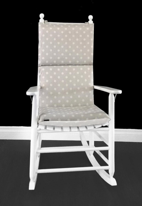 Ikat Polka Dot Rocking Chair Cushion Custom Size Rocking Chair