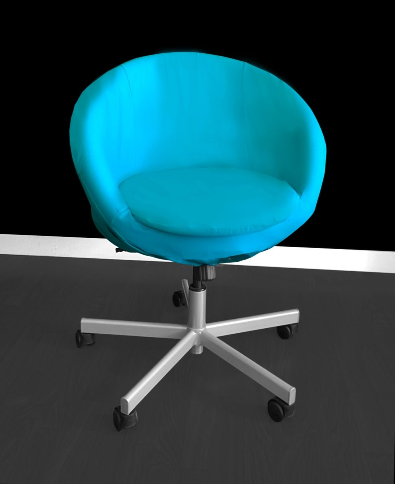 ffffa0f6b Aqua Blue IKEA SKRUVSTA Chair Slip Cover