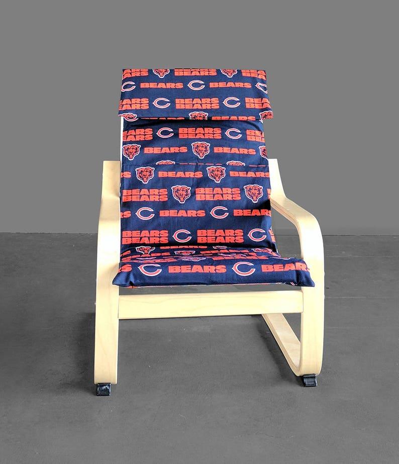 Fan KidsChicago BearsHousses En Poang Housse Tissu Chaise De Ikea Meuble NflFootball FclK1J