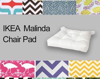 Custom Ikea Chair Pad Cover, Custom Ikea Malinda Covers, Malinda Seat Covers, Colorful Ikea Slipcovers