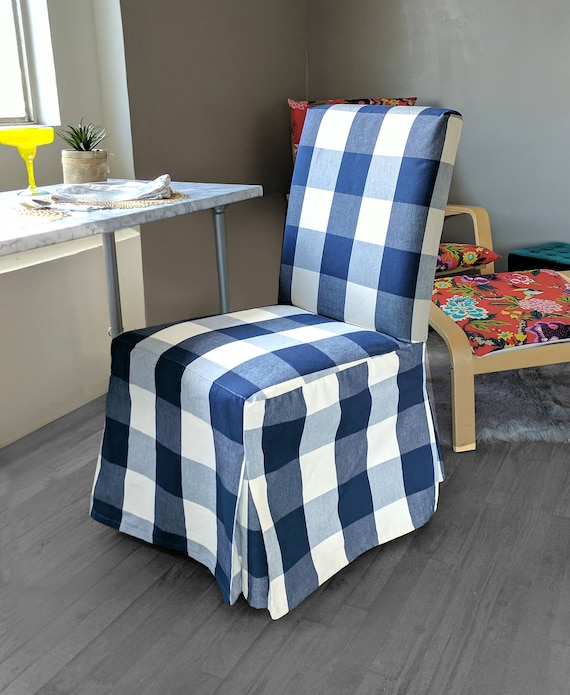 Enjoyable Ikea Dining Chair Cover Buffalo Check Navy Blue Traditional Style Henriksdal Slipcover Gmtry Best Dining Table And Chair Ideas Images Gmtryco