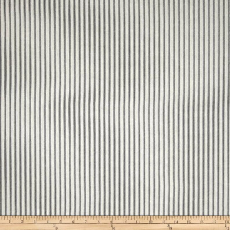 IKEA PO\u00c4NG Cushion Slipcover Slate Gray Ticking Stripe