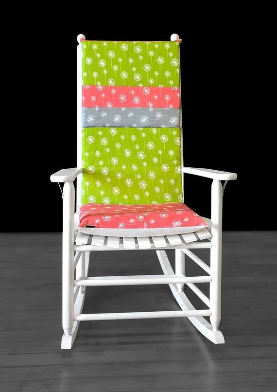 housses de coussin floral pissenlit rocking chair etsy. Black Bedroom Furniture Sets. Home Design Ideas