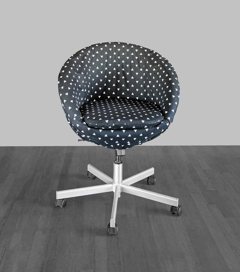 Ikea Skruvsta Draaifauteuil.Black Triangle Print Ikea Skruvsta Chair Slip Cover