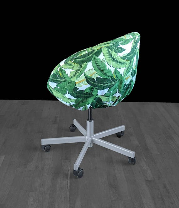 Astounding Ikea Skruvsta Chair Slip Cover Jungle Green Tropical Palm Leaves Gmtry Best Dining Table And Chair Ideas Images Gmtryco