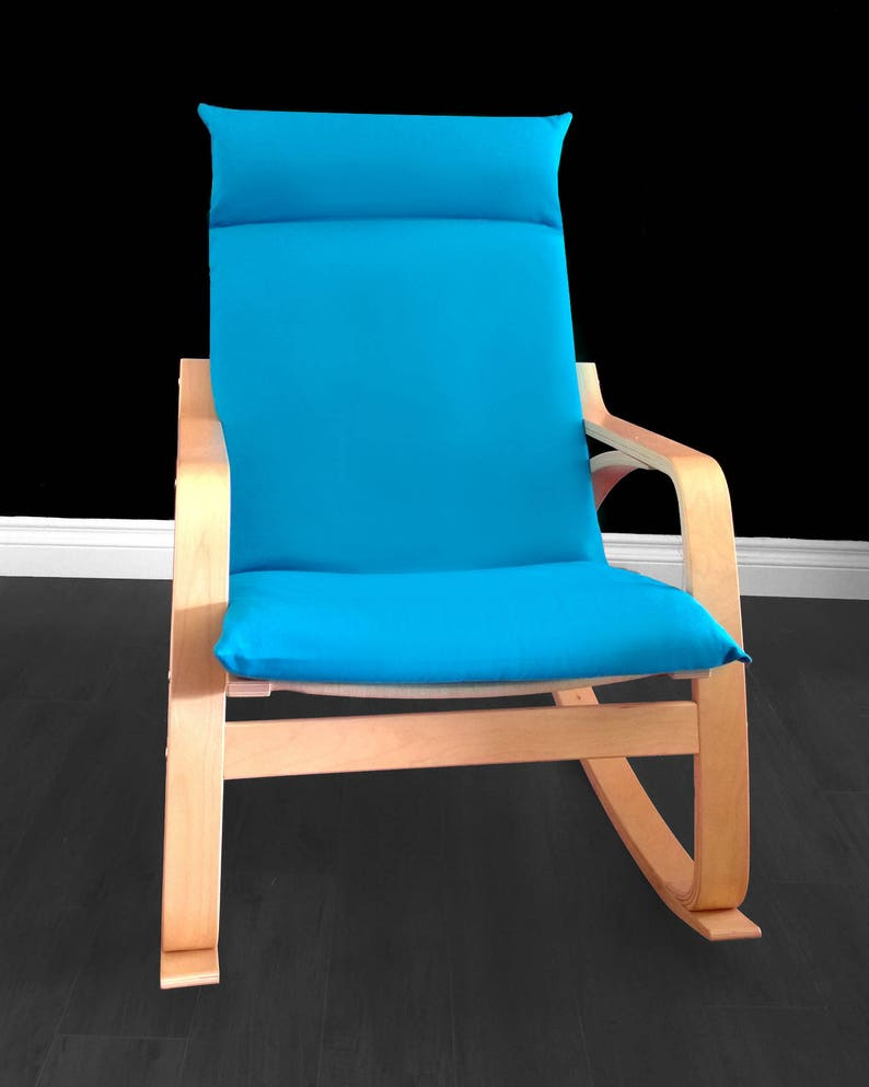 Turquoise Ikea Poang Chair Cover Solid Blue Ikea Seat Cover