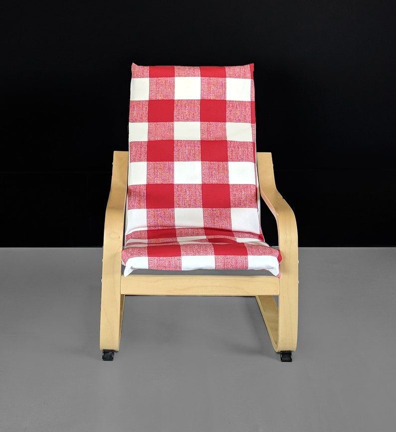Super Red Buffalo Check Pattern Ikea Kids Poang Chair Cover Inzonedesignstudio Interior Chair Design Inzonedesignstudiocom