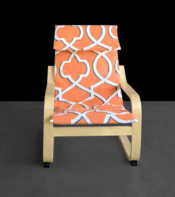 Remarkable Sale Orange Retro Pattern Ikea Poang Chair Cover Evergreenethics Interior Chair Design Evergreenethicsorg