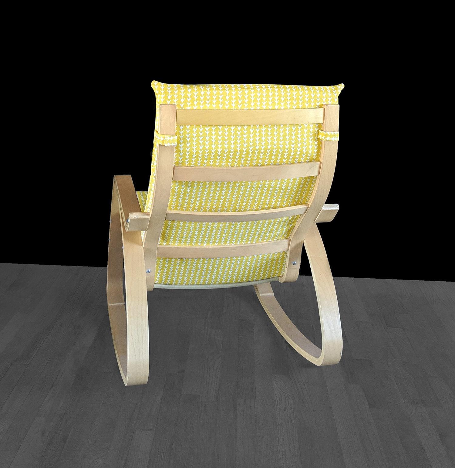 Strange Yellow Vine Bold Pattern Ikea Poang Chair Cover Evergreenethics Interior Chair Design Evergreenethicsorg