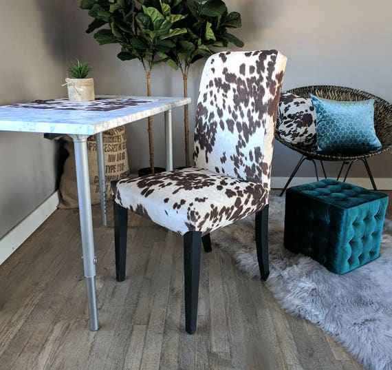 Terrific Ikea Dining Chair Cover Brown Cow Print Cow Hide Henriksdal Cover Short Links Chair Design For Home Short Linksinfo