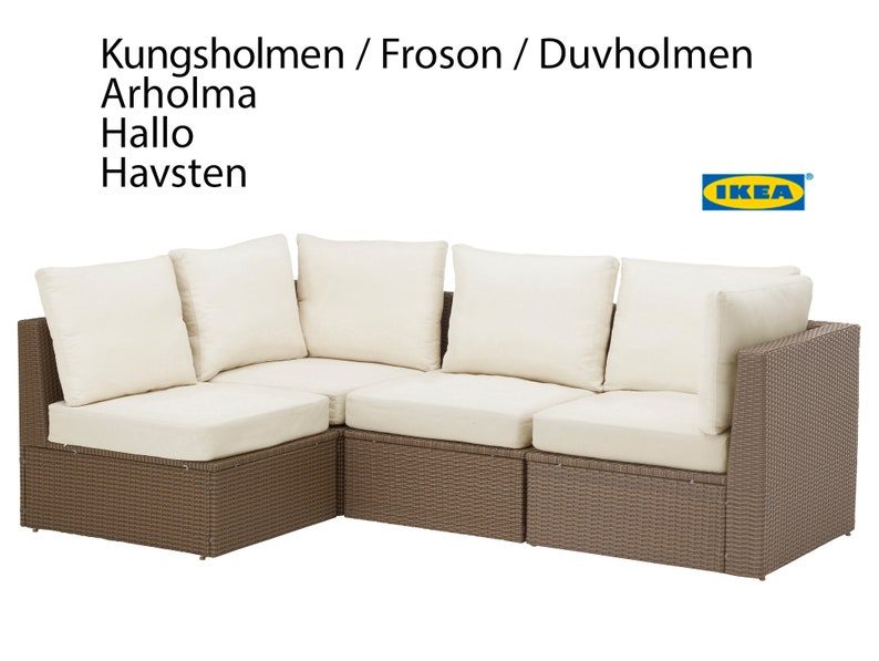 IKEA OUTDOOR Slip Cover Bespoke Arholma Covers Custom Ikea Decor Multicolor Stripe Ikea Cushion Covers