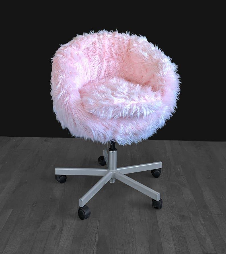 Pink Cover Chair Slip Fur Skruvsta Ikea b7yfg6