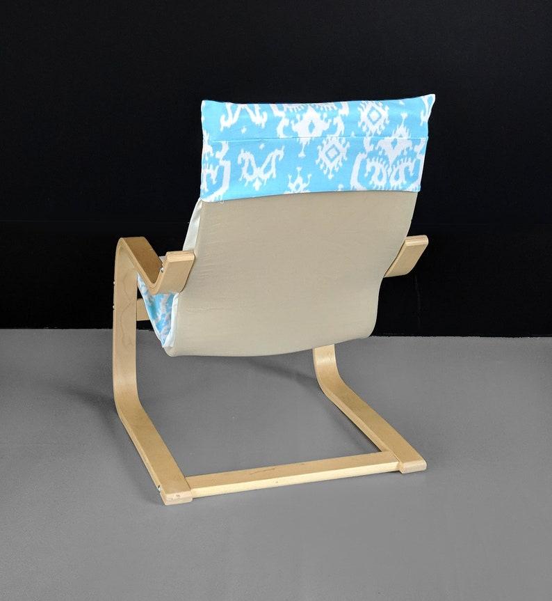 Light Blue Indian Print IKEA KIDS PO\u00c4NG Cushion Slipcover