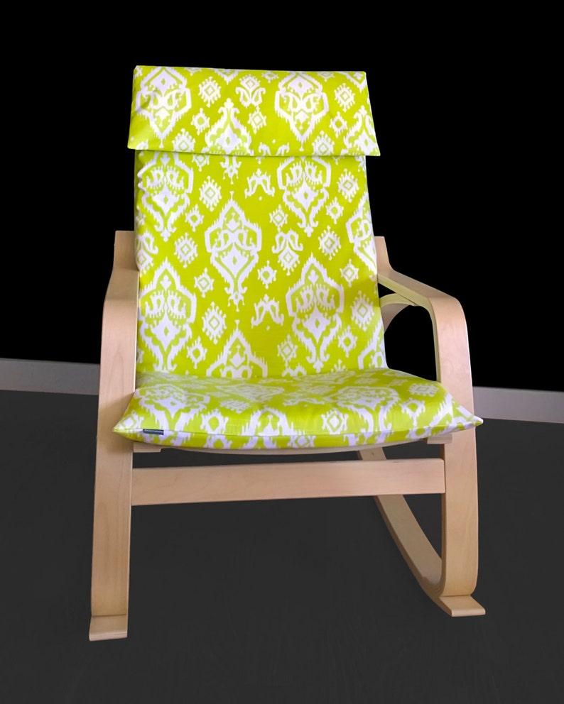 Lime grün Ikat Ikea POÄNG Sessel Sitzbezug
