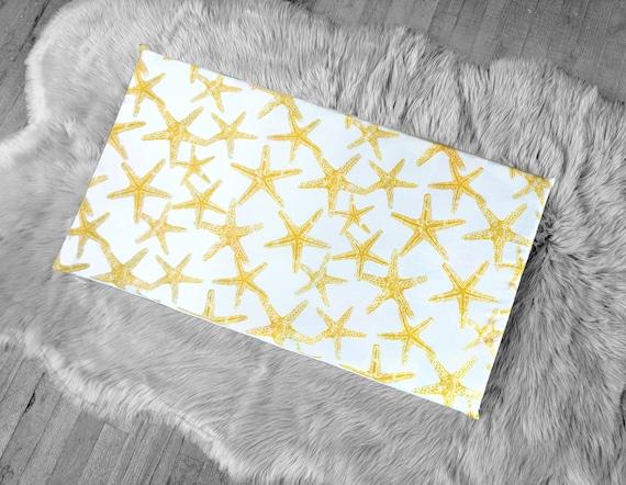 Fantastic Starfish Yellow Window Seat Pad Ikea Stuva Bench Pad Slip Cover Ocean Theme Dailytribune Chair Design For Home Dailytribuneorg