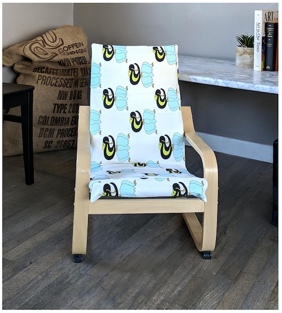 Chevron Blanc Marron Coussin De Chaise Poäng Ikea Pour Enfant