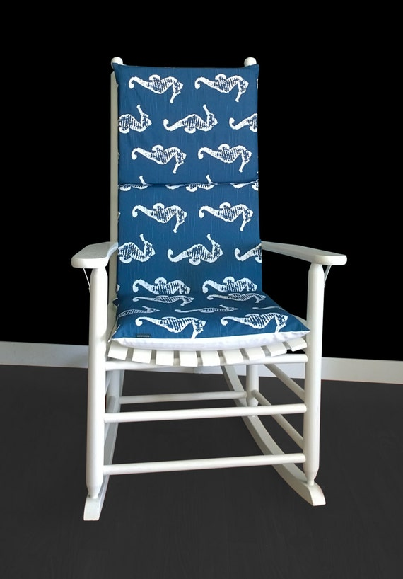 Swell Navy Seahorse Rocking Chair Covers Unemploymentrelief Wooden Chair Designs For Living Room Unemploymentrelieforg