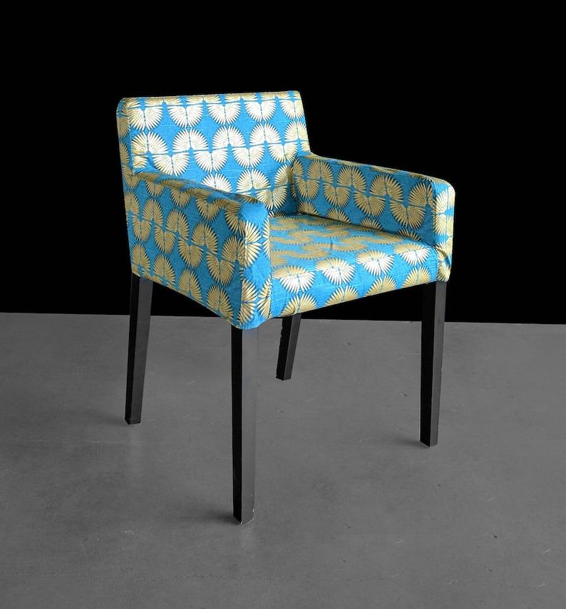 Hollywood Regency Turkis Blau Gold Individuelle Mobel Drucke Ikea Nils Stuhl Beleg Abdeckung