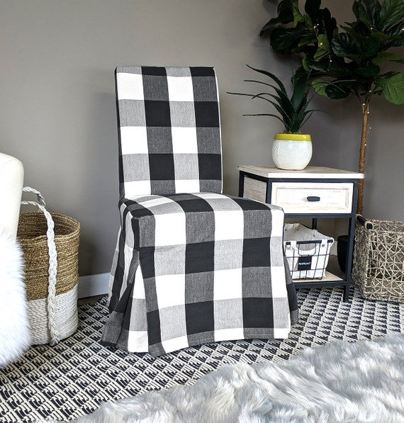 Awesome Ikea Dining Chair Cover Farmhouse Plaid Buffalo Check Black Traditional Style Henriksdal Slipcover Gmtry Best Dining Table And Chair Ideas Images Gmtryco