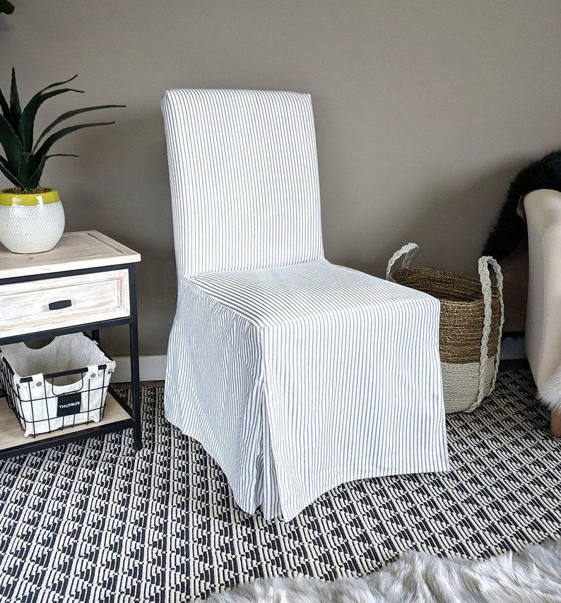 Strange White Black Ticking Stripe Ikea Henriksdal Seat Cover Machost Co Dining Chair Design Ideas Machostcouk