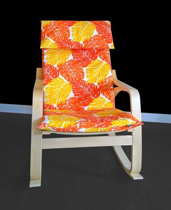 Orange Blatter Poang Sessel Blatt Ikea Sitzbezug Tropischen