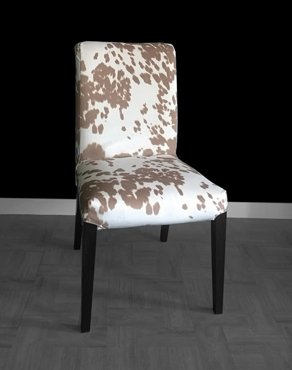 Admirable Cow Print Ikea Henriksdal Dining Chair Cover Funky Faux Udder Madness Henriksdal Cover Squirreltailoven Fun Painted Chair Ideas Images Squirreltailovenorg