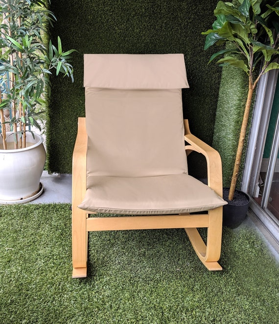 Sale Solid Tan Beige Ikea Poang Chair Cover