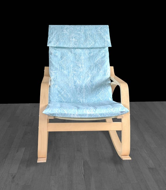 Magnificent Tribal Indian Blue Ikea Poang Chair Cover Cushion Slip Cover Inzonedesignstudio Interior Chair Design Inzonedesignstudiocom