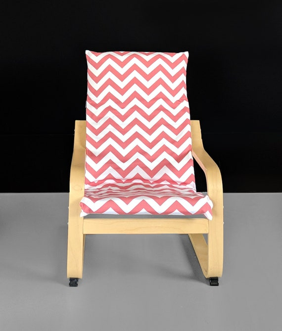 Super Coral Pink Zig Zag Kids Ikea Poang Chair Cover Red Chevron Ikea Kids Poang Seat Cover Gmtry Best Dining Table And Chair Ideas Images Gmtryco