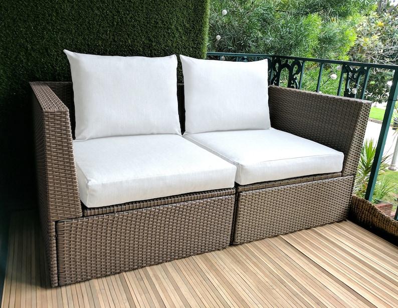 Ikea Cushion Covers Bespoke Arholma Covers Sunbrella White IKEA OUTDOOR Slip Cover Custom Ikea Decor
