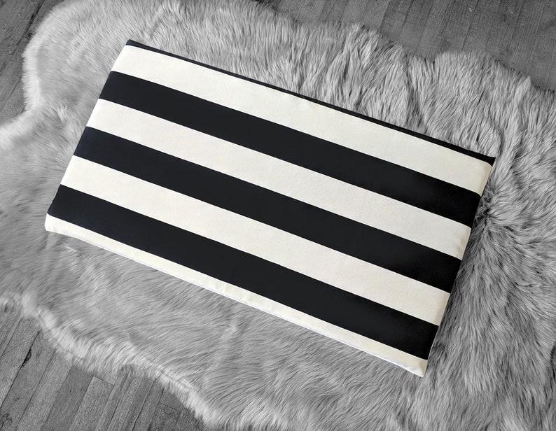 Ikea Stuva Bench Pad Slip Cover Outdoor Black Beige Cabana Etsy