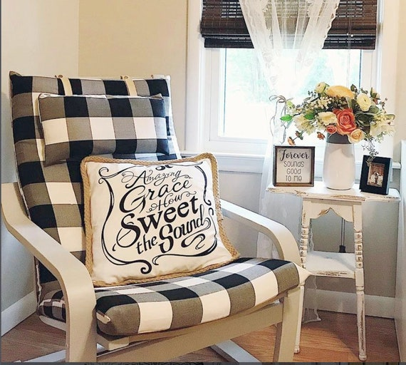 Strange Ikea Poang Farmhouse Buffalo Check Slipcover Black Ikea Chair Cover Ocoug Best Dining Table And Chair Ideas Images Ocougorg