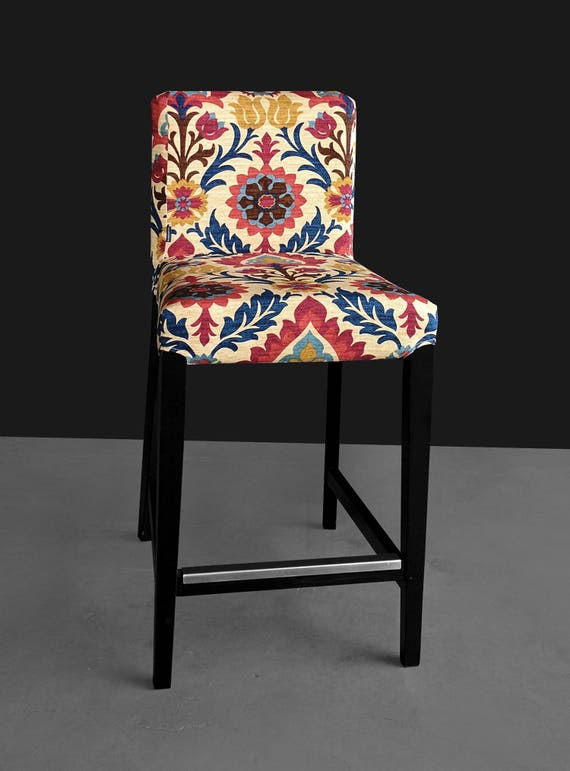 Phenomenal Colorful Flowers Ikea Henriksdal Bar Stool Chair Cover Forskolin Free Trial Chair Design Images Forskolin Free Trialorg
