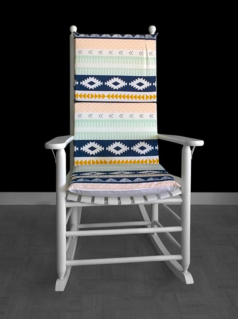 Diamond Pattern Retro Rocking Chair Cover