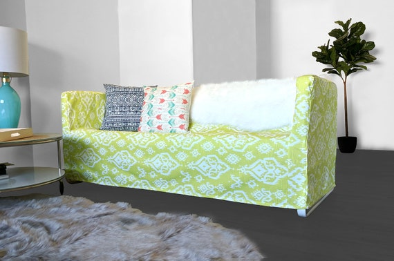 Outstanding Sale 3 Seater Ikea Couch Cover For Knopparp Lime Green Ikat Print Frankydiablos Diy Chair Ideas Frankydiabloscom