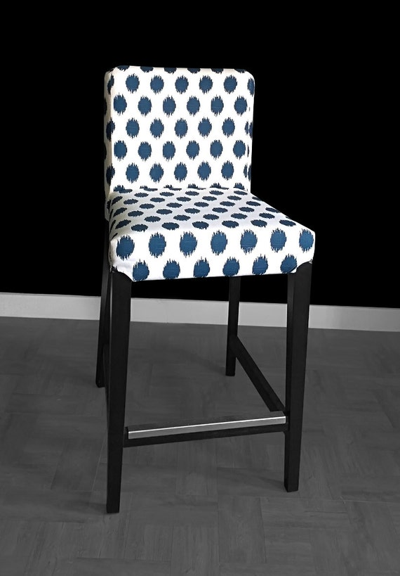 Blue Polka Dots Ikea Henriksdal Chair Cover Etsy