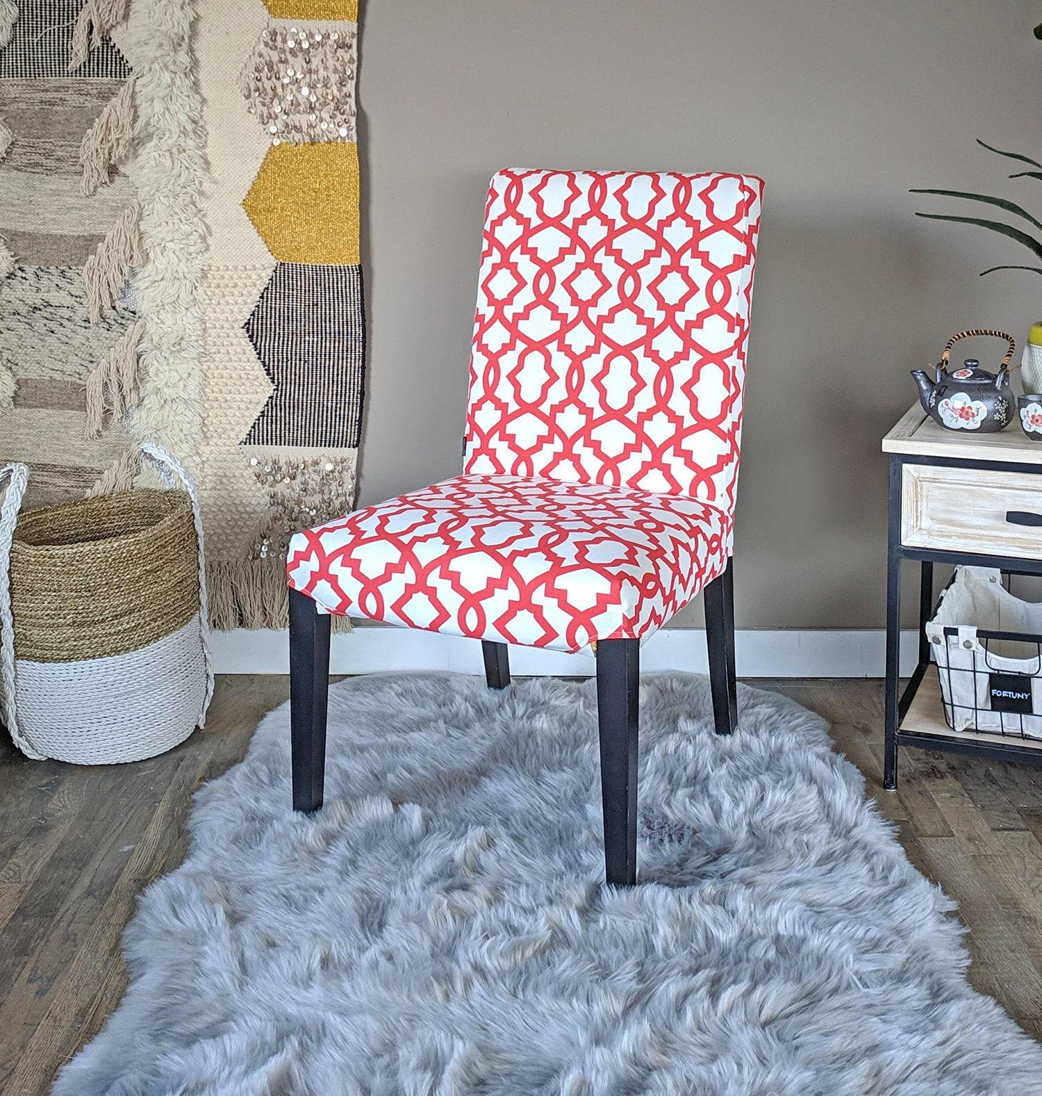 Enjoyable Sample Sale Red White Trellis Pattern Ikea Henriksdal Machost Co Dining Chair Design Ideas Machostcouk