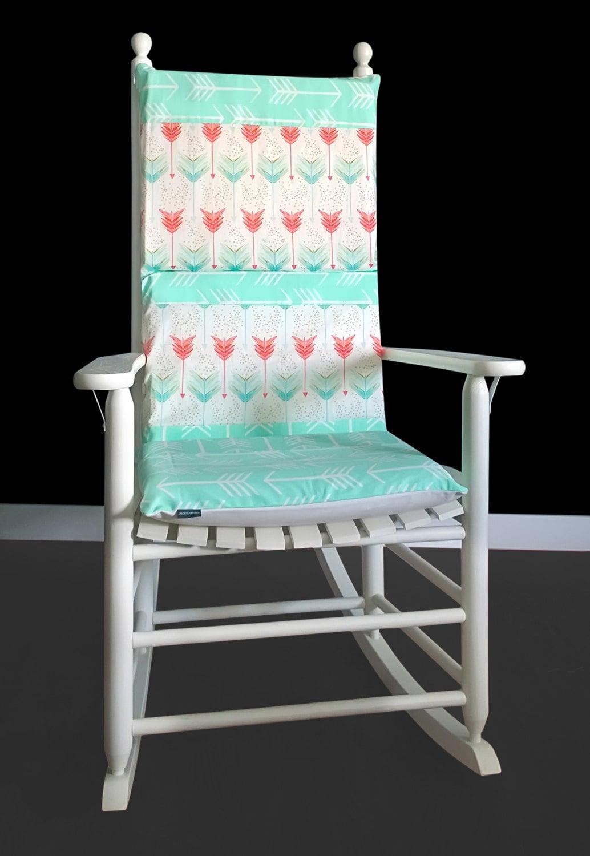 mint arrows custom rocking chair pad