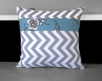 Chevron Flower Dwell Studio Pillow Cover 18 x 18