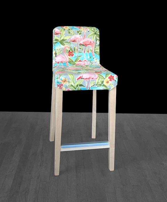 Incredible Pink Flamingo Henriksdal Stool Cover Tropical Henriksdal Slipcover Uk Euro Australia Size Forskolin Free Trial Chair Design Images Forskolin Free Trialorg
