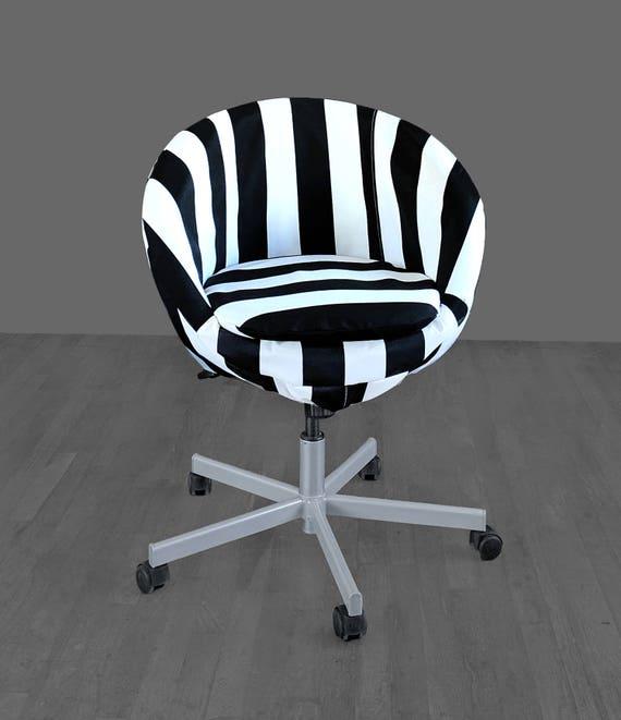 Admirable Ikea Skruvsta Swivel Chair Cover Black White Stripe Chair Cover Bralicious Painted Fabric Chair Ideas Braliciousco