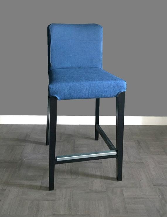 Plain Blue IKEA HENRIKSDAL Bar Stool Chair Cover, UKEuroAustralia size