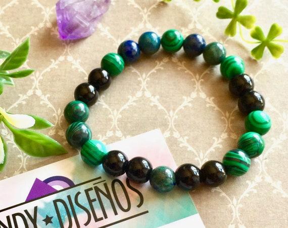Onix Mala Bracelet for Men, Wrist Mala, Yoga Bracelet, Energy Mala Bracelet, Gemstone Malaquite Bracelet, Gift for him, black mala bracelet