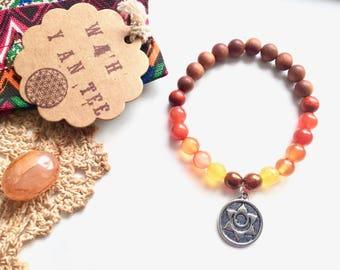 Healing Bracelet Creativity & Passion · Wah Yantee Energy Bracelet Second Chakra. Agate Carnelian, Chakra Jewelry, Gemstone Mala, Yoga Reiki