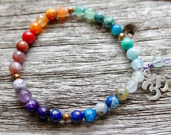 7 Chakra Bracelet. Yoga Jewelry Protection Energy Bracelet, Prosperity Bracelet Mul Mantra Kundalini bracelet, Healing Bracelet Chakra Mala