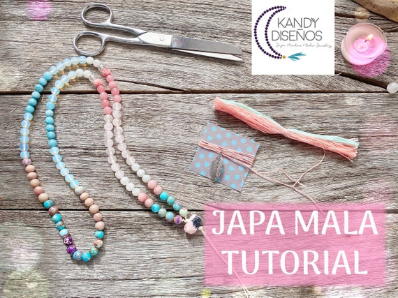 Tutorial How to Make a Japa Mala Necklace 108 beads by Kandy Disenos - Professional PDF and Exclusive Youtube Video - English Version