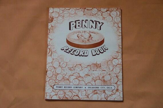 vintage 1940s 1950s penny record book simplify etsy