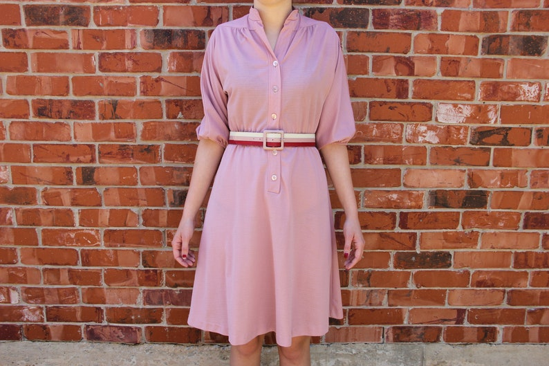 e3a11b692 Vintage 1970s Pink Bobby s Girl Fit and Flare