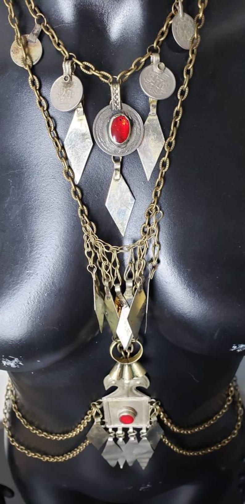 Tribal Bellydance Kucki Jewelry Costume Body Chain